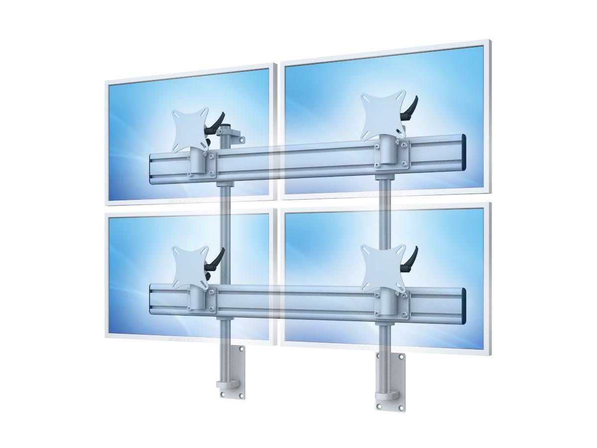 Flat-System Wand 2+2 - 25\'\'-30\'\' (Multi-Monitor Halterungen)